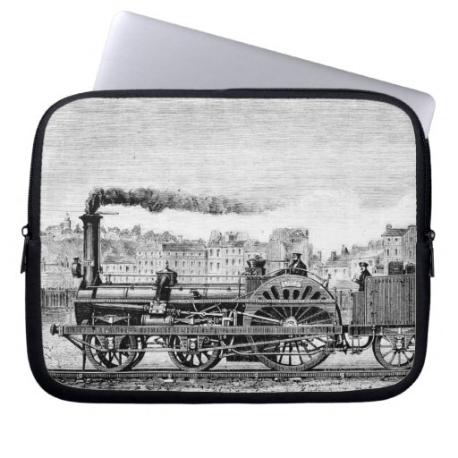 Steam locomotive laptop computer sleeve