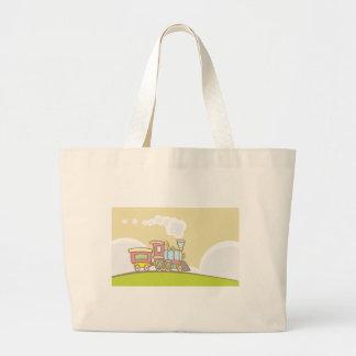 Steam Locomotive Large Tote Bag