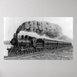 Steam Locomotive No. 999 - C. 1893 Poster