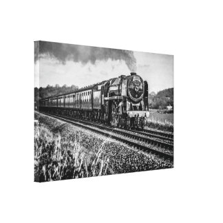 """Steam locomotive """"Oliver Cromwell"""" a 4-6-2 Canvas Print"""