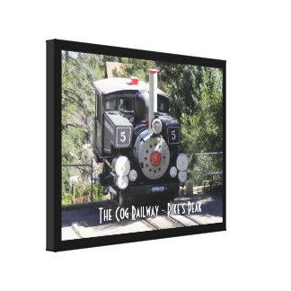 Steam Locomotive Pike's Peak Cog Railway Canvas Print