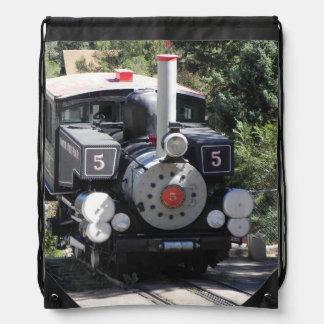 Steam Locomotive Pike's Peak Cog Railway Drawstring Backpack