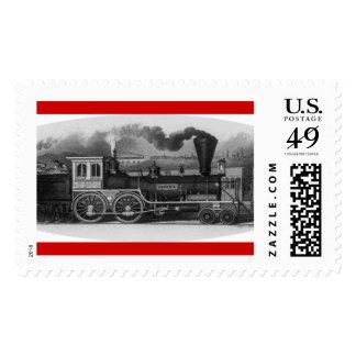 Steam Locomotive Postage Stamp