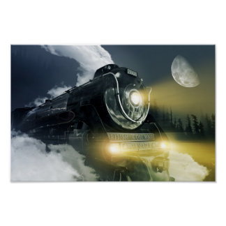 Steam Locomotive Poster