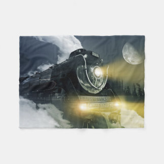 Steam Locomotive Small Fleece Blanket