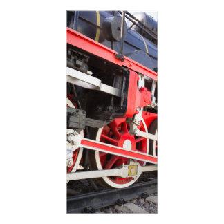 Steam locomotive wheels rack card