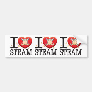 Steam Love Man Car Bumper Sticker
