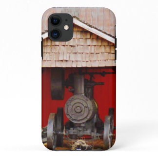 Steam powered Antique Tracter iPhone 11 Case