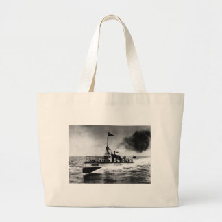 Steam Powered Boat Jumbo Tote Bag