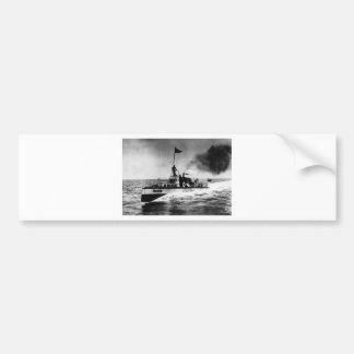 Steam Powered Boat Car Bumper Sticker
