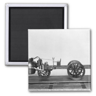 Steam-powered car invented 2 inch square magnet