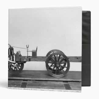 Steam-powered car invented 3 ring binder