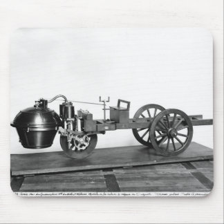 Steam-powered car invented mouse pads