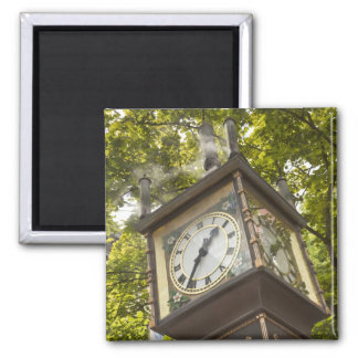 Steam powered clock in the Gastown neighborhood 2 Inch Square Magnet