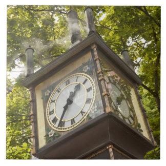Steam powered clock in the Gastown neighborhood Ceramic Tile