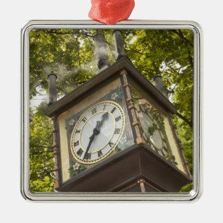 Steam powered clock in the Gastown neighborhood Metal Ornament
