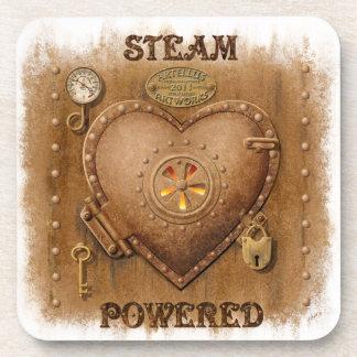 Steam Powered Heart Drink Coaster