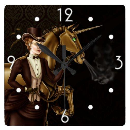 Steam Powered Unicorn de señora Gertrudis Reloj