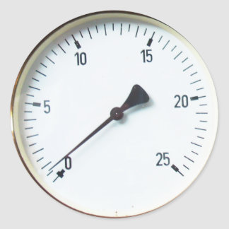 Steam Pressure Gauge Dial Sickers Classic Round Sticker