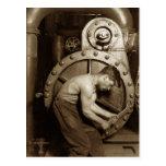 Steam Pump Mechanic Postcard