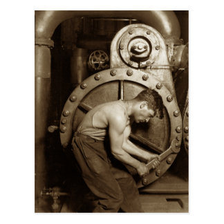 Steam Pump Mechanic Postcards
