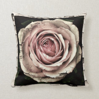 Steam Punk Antique rose Throw pillow