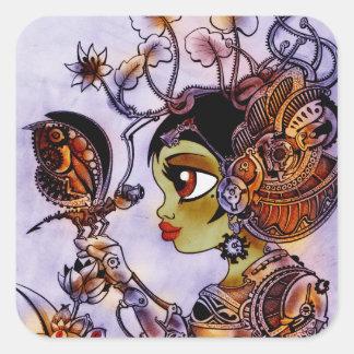 Steam Punk butterfly lady Sticker
