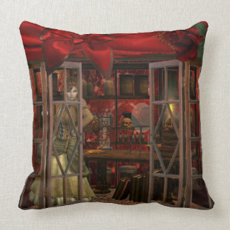 Steam Punk era elements pillow. Throw Pillow