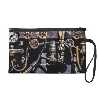 Steam Punk Gears and Gauges Wristlet