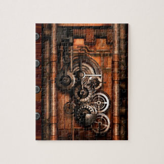 Steam Punk Gears and Rivets Puzzle