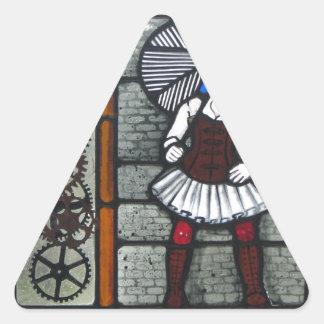 Steam Punk Girl Triangle Sticker