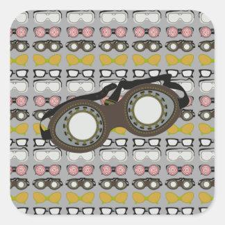 Steam Punk Goggles Square Sticker