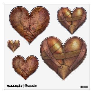 Steam Punk Heart Mix Wall Sticker