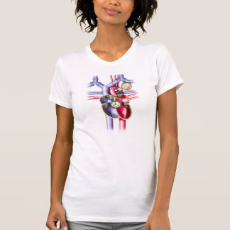 Steam Punk mechanical heart Tee Shirt