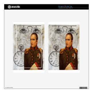 Steam Punk Military Man Eyes Gears Clock Decal For Kindle Fire