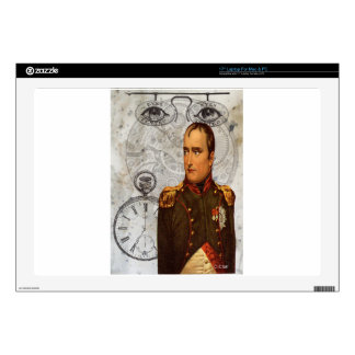 "Steam Punk Military Man Eyes Gears Clock Decals For 17"" Laptops"