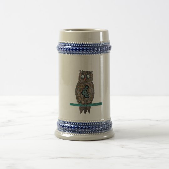Steam Punk Owl Beer Stein