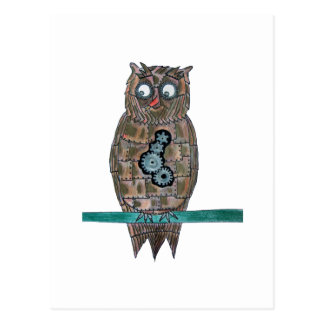 Steam Punk Owl Postcard