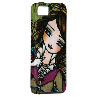 Steam Punk Stained Glass Fairy Art iPhone Case