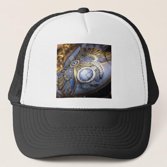 Steam punk trucker hat