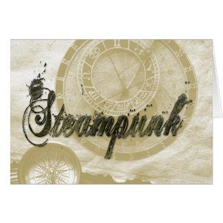 Steam punk vintage fashion art card