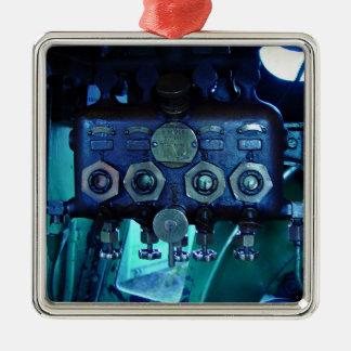 Steam regulator in locomotive christmas tree ornaments