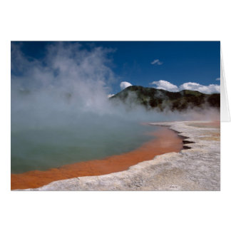 Steam rising from Champagne Pool at WAI-O-TAPU Greeting Card