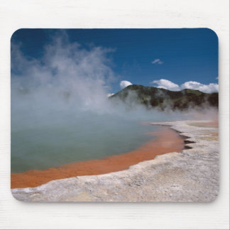 Steam rising from Champagne Pool at WAI-O-TAPU Mouse Pad