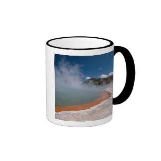 Steam rising from Champagne Pool at WAI-O-TAPU Coffee Mugs