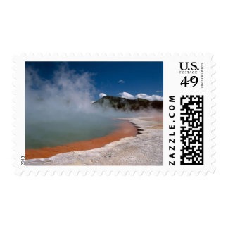 Steam rising from Champagne Pool at WAI-O-TAPU Postage Stamps