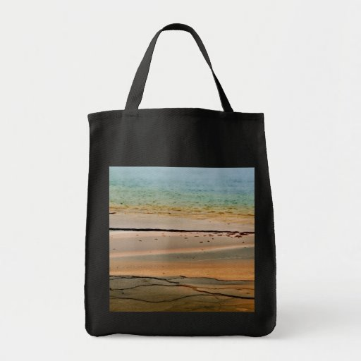 STEAM RISING FROM VOLCANIC THERMAL POOL CANVAS BAGS