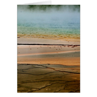 STEAM RISING FROM VOLCANIC THERMAL POOL CARD