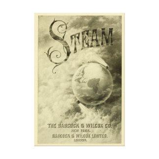 Steam Runs The World 1904 Canvas Print