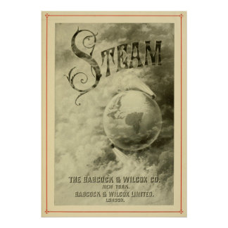 Steam Runs The World 1904 Poster